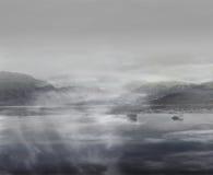 Brouillard et regain Photographie stock