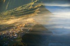 brouillard pendant le matin Image stock