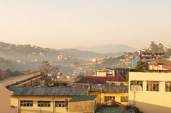 Brouillard pendant le matin Image libre de droits