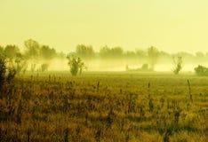Brouillard sur la rivière photos stock