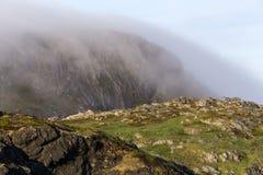 Brouillard sur la tête de soufre, île de Fogo Photos libres de droits