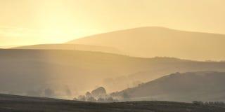 Brouillards en hausse, forêt de Bowland Photo stock