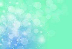 Brouillez le fond et le papier peint vert-bleu d'effet de kight de bokeh Photo libre de droits