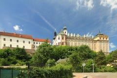 Broumov-Kloster der Bestellung von St. Benedict lizenzfreie stockbilder