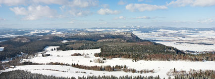 Broumovske Steny Mountains Royalty Free Stock Photography