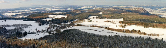 Broumovske Steny Mountains Stock Photo