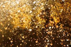 Broun foncé d'humeur de Christmass et fond jaune Images libres de droits