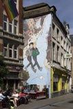 Broussaille-Comics-Buch an Plattesteen-Straße Lizenzfreie Stockfotos