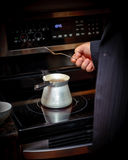 Brouwende koffie Stock Foto