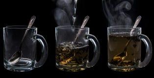 Brouwende thee stock fotografie