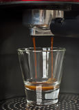 Brouwende verse espresso Stock Foto