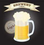 Brouwerij licht bier Royalty-vrije Stock Afbeeldingen