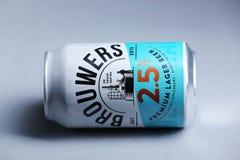 Brouwers Lager Beer de la meilleure qualité des Pays-Bas, d'isolement photos stock