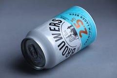 Brouwers Lager Beer de la meilleure qualité des Pays-Bas, d'isolement image stock