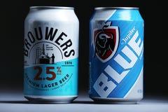 Brouwers Lager Beer de la meilleure qualité des Pays-Bas, d'isolement photographie stock