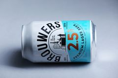 Brouwers Lager Beer premio dai Paesi Bassi, isolati fotografie stock