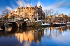Brouwersgracht Амстердам Стоковая Фотография