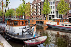 Brouwersgracht Canal in Amsterdam Royalty Free Stock Image
