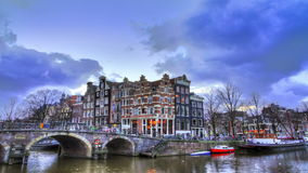 Brouwersgracht timelapse stock video