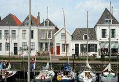 Brouwershaven малый город на Grevelingen в голландской провинции Зеландии Стоковые Изображения
