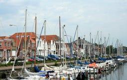 Brouwershaven малый город на Grevelingen в голландской провинции Зеландии Стоковое фото RF