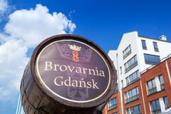 Brovarnia Gdansk in the old town Stock Photography