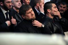 Brovary, UCRÂNIA 4 12 2010 presidente checheno Ramzan Kadyrov imagens de stock