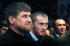 Brovary, UCRÂNIA, 4 12 2010 presidente checheno Ramzan Kadyrov imagens de stock royalty free