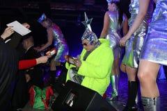 Brovary, Ukraina, 31 03 2007 Popularnych Ukraińskich sławnych artiste Verka Serduchka, Andriy Danylko zdjęcie royalty free