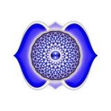 The Brow Chakra Mandala. Illustration of the brow chakra Royalty Free Stock Photography