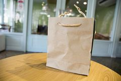 Brow Paper Bag for Medicine Royalty Free Stock Images
