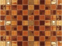 Browan树荫皮革陶瓷锦砖背景 免版税库存图片