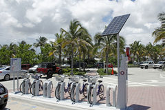 Broward B-Cycle Kiosk at Fort Lauderdale Beach Park Royalty Free Stock Photo