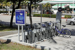 Broward B-Cycle Station in the Morning Stock Photos