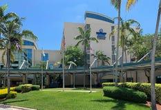 Broward Health Medical Center. FORT LAUDERDALE, FLORIDA, USA - MAY 31, 2019: The main entrance to Broward Health Medical Center, previously known as Broward royalty free stock photos