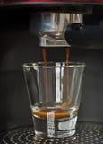 Browarniana świeża kawa espresso Zdjęcie Stock