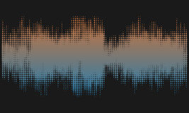 Browm and blue halftone abstract design background in the form of wave. Stock Photography