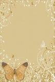 browmfjärilsbokstav Royaltyfri Fotografi