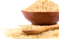 brown över riceskeden Royaltyfri Fotografi