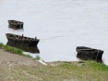 Brown łódź Zdjęcie Royalty Free