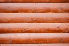 Brown ściana drewniane bele zdjęcia stock