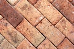 Brown ściana z cegieł tekstura Fotografia Royalty Free