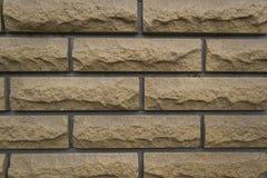 Brown ściana z cegieł tekstury tło Fotografia Stock
