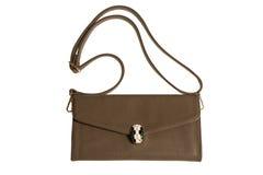 Brown żeńska sprzęgłowa torba Obrazy Royalty Free
