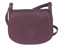 Brown żeńska torba Zdjęcia Stock