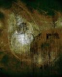 Brown и текстурированная чернотой стена Стоковая Фотография RF