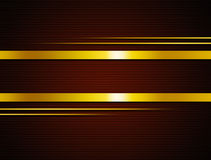 Brown. Background with golden  lines across. abstract illustration Stock Photo
