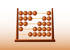Brown abacus Stock Photo