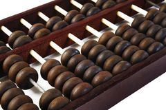Brown abacus on background Stock Images