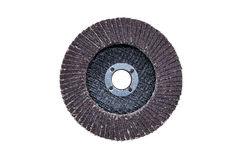 Brown abrasive wheels isolated on a white background Royalty Free Stock Photo